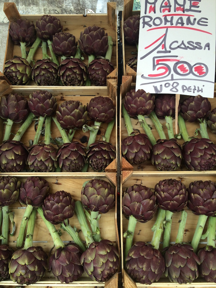artichokes at the market italy