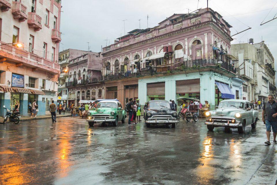 Vintage cars in La Havana