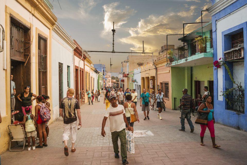 The main pedestrian road in Sancti Spiritu, Cuba